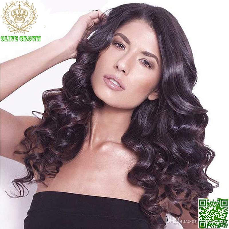 Loose Wave Brazilian Human Hair Wig Wavy Hair Lace Front Wig Top Grade 6A Full Lace Human Hair Wigs With Bleach Knot