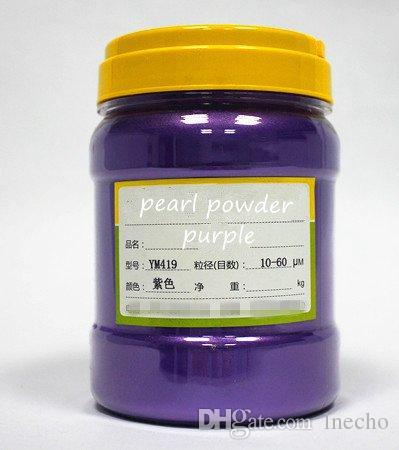 500g geben PURPLE Farbe natürliches Mineral Glimmer-Pulver DIY für Soap Dye Soap-Farbstoffschminke-Augenschminkepuder-Autofarbenpigment frei
