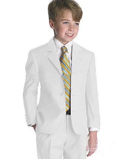 Ragazzi Tuxedo / Boys Abbigliamento Abbigliamento Commercio all'ingrosso - Abbigliamento per bambini Nuovo Stile Completo Designer Completo Boy Wedding Suit / Abbigliamento per ragazzi (Giacca + Pantaloni + Tie + Camicia)