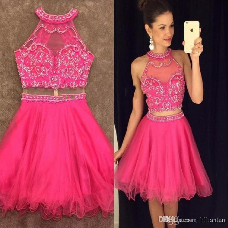 provide large selection of bright in luster speical offer Beads Crop Top Skirt Homecoming Dresses 2017 Short Corset Prom Dresses  Graduation Gowns Mini Skirt Two Piece Cocktail Party Gowns Maxi Dresses  Dress ...