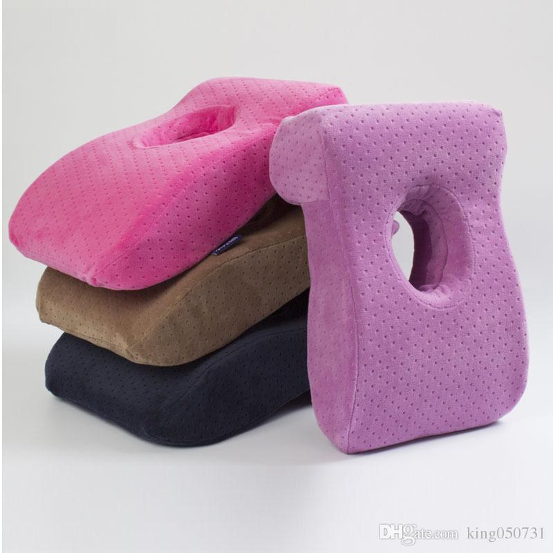 Almohada de memoria de viaje multifuncional Office Nap Pillow L en forma de almohada de espuma de memoria de rebote lento para dormir de escritorio