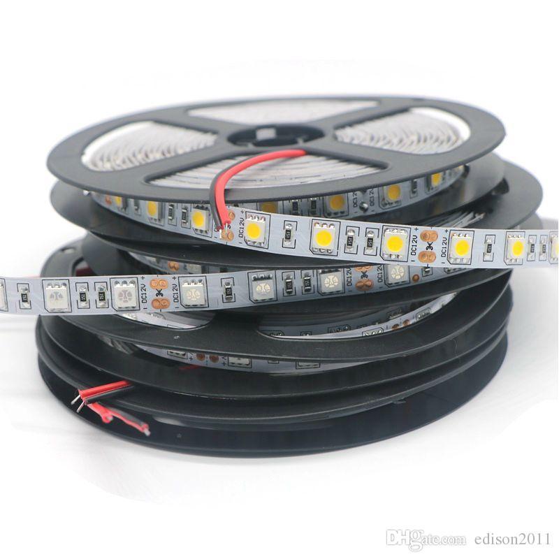 LED Strip 5050 SMD 12V Flexibele Licht 60LED / M, 5M 300LED wit / warm wit blauw / groen / rood / geel RGB LED-licht