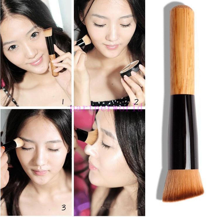Multi-Function Pro Makeup Brushes Powder Concealer Blush Liquid Foundation Make up Brush Set Wooden Kabuki Brush Cosmetics DHL 500pcs