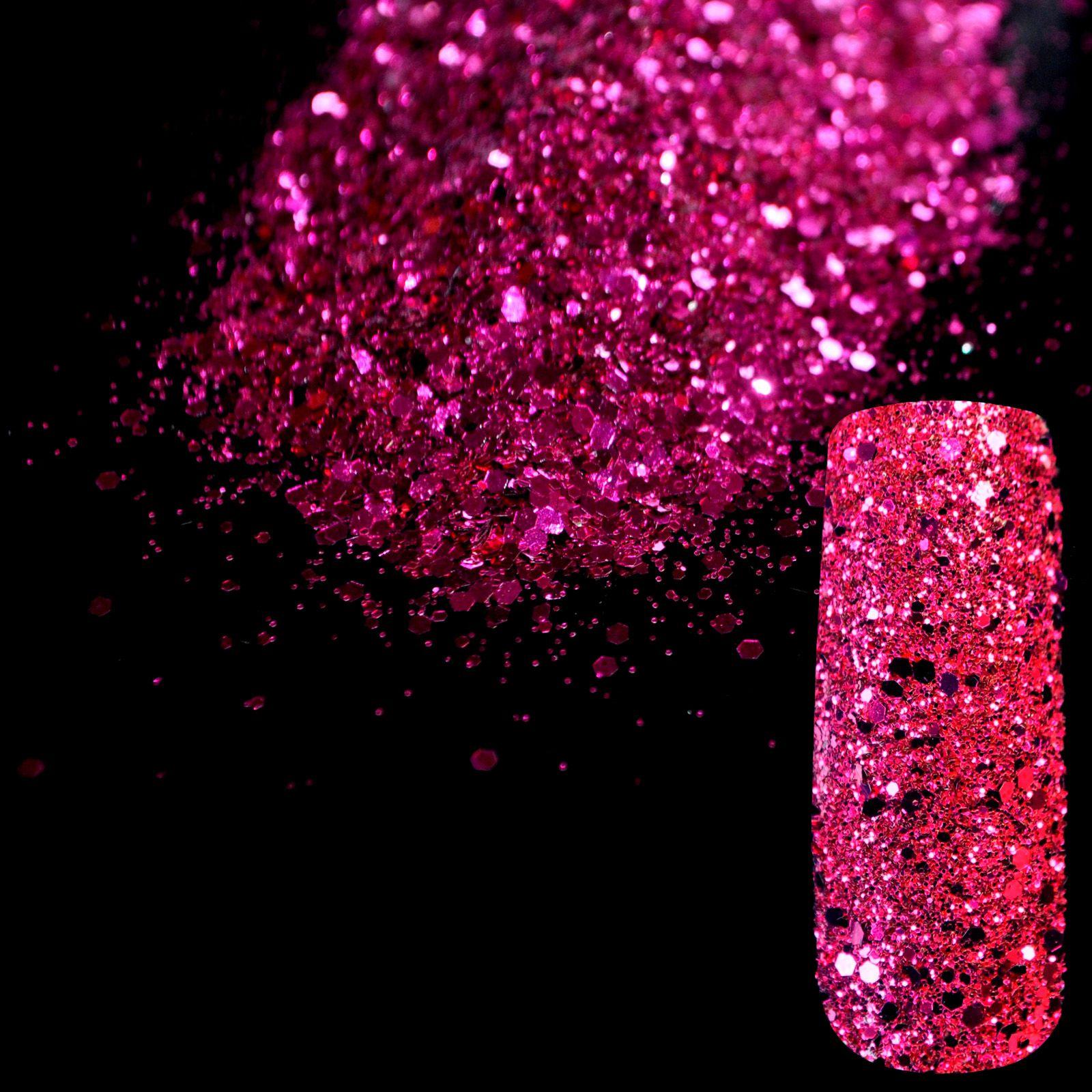 Vente en gros - Violet brillant Art Nail Art DIY Paillettes Taille Deffierent Manucure 3D Poudre Pentagone Paillettes Nail Fournitures Décoration 268