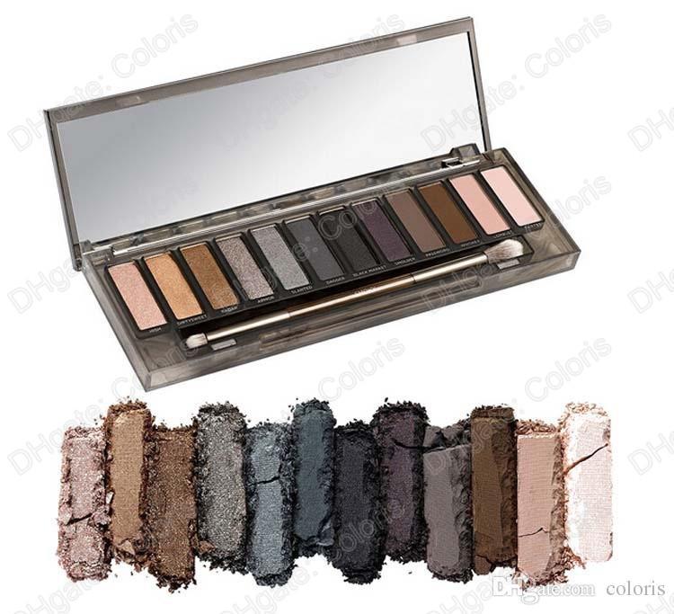 MYG سموكي لوحة ظلال ألوان 12 لوحة ماكياج لامع عارية عيون سهل على ارتداء لوحة ظلال العيون