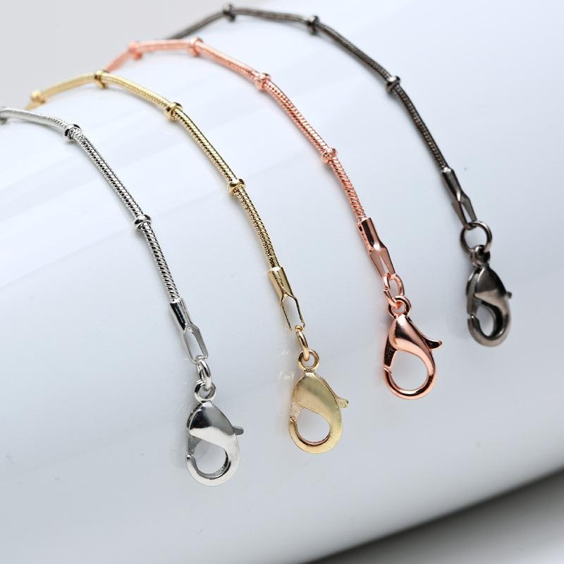pendant plain chain web chains com short silver