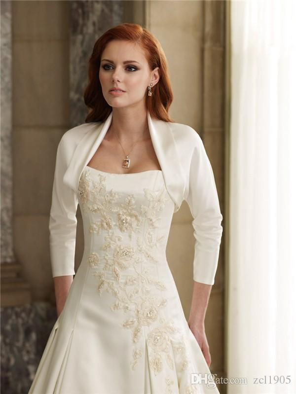 2019 Superior jackets Bridal Wrap Bridal Jackets Ivory Noiva Bridal Bolero Wedding Dress accessories