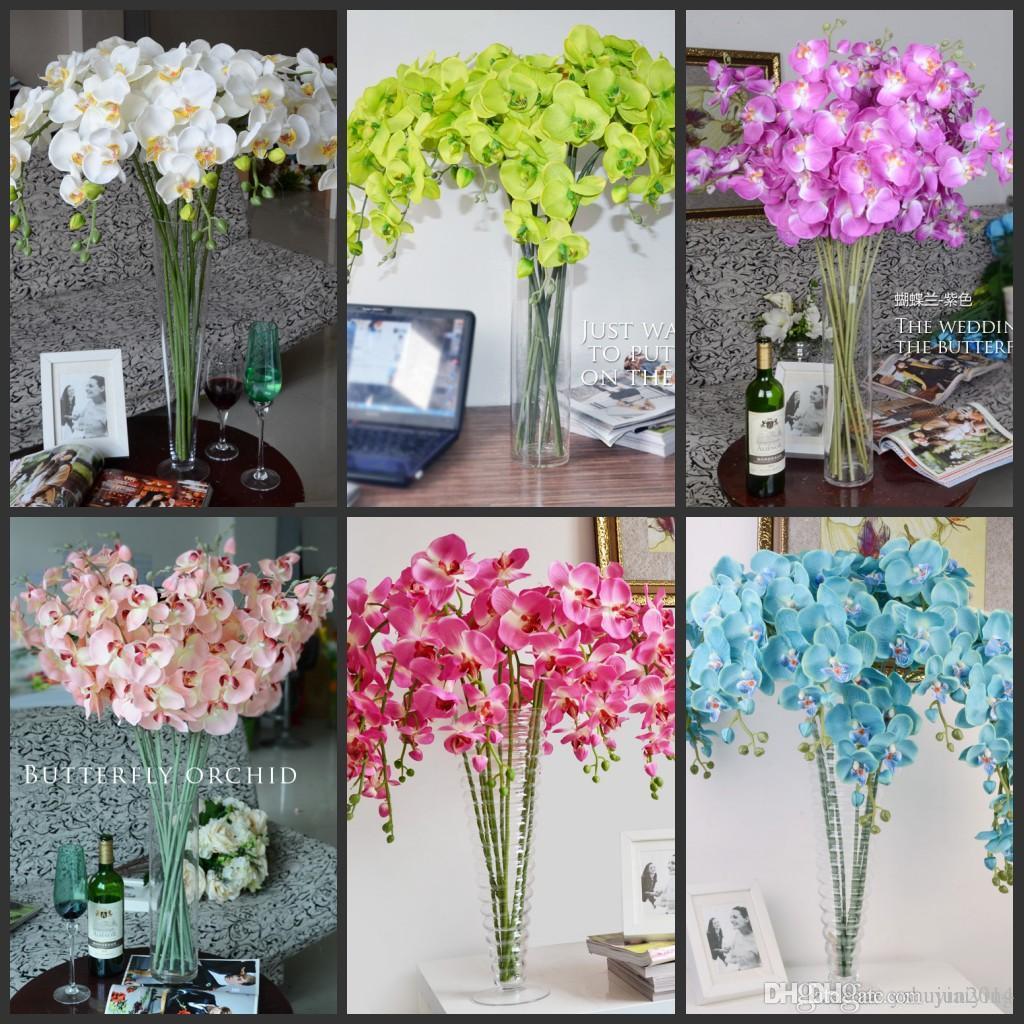 """78 cm / 30.71 """"Comprimento Phalaenopsis Real Toque Borboleta Orquídea flor para o Natal Casa Ornamento Do Partido Decorações suprimentos 6 cor"""