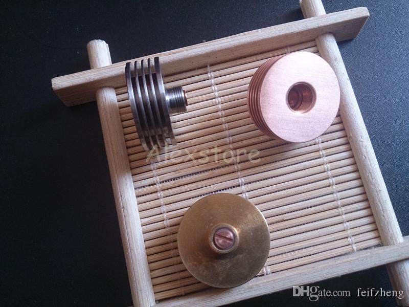 Dissipador de calor com aço inoxidável latão cobre vermelho 510 fio de dissipação de calor adaptador tampa superior para gotejador rda rba atomizador tanque ecig vaporizador