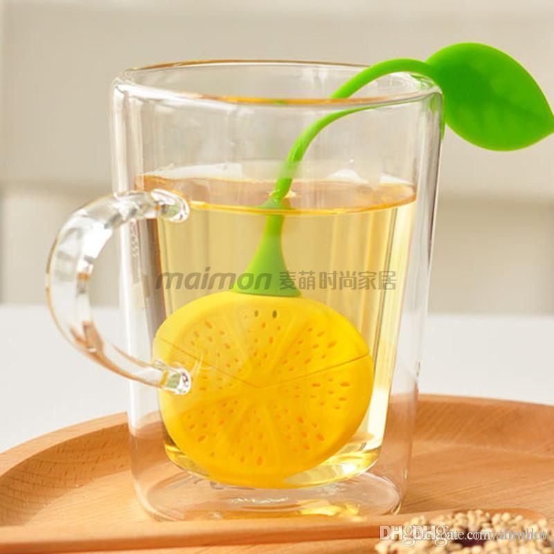 HOT Silicone Teabag Chá Limão Estilo Coador Infuser Bule Teacup Saco De Filtro para o presente Livre DHL
