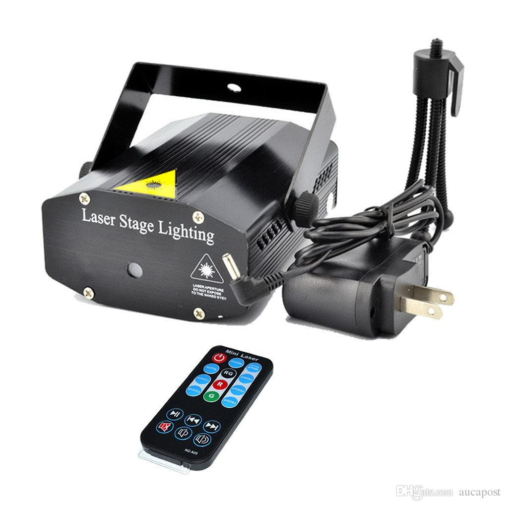 AUCD Blue / Black Mini Portable RG Meteor Laser Projector Lights DJ Bars KTV Home Xmas Party Dsico Show LED Stage Lighting EP OI100