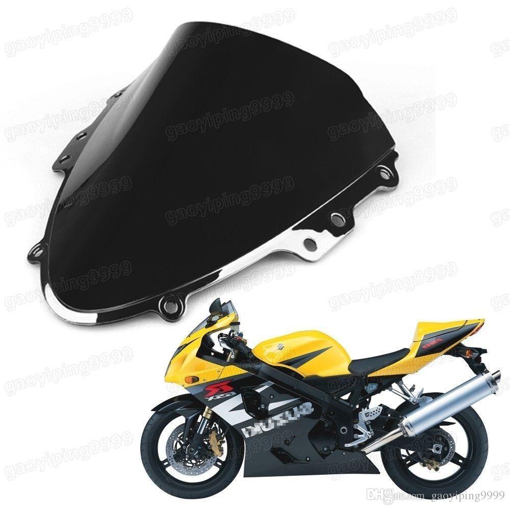 Nova Motocicleta Dupla Bolha Windscreen Windshield Lens ABS para Suzuki GSXR 600 GSXR 750 2004-2005 K4