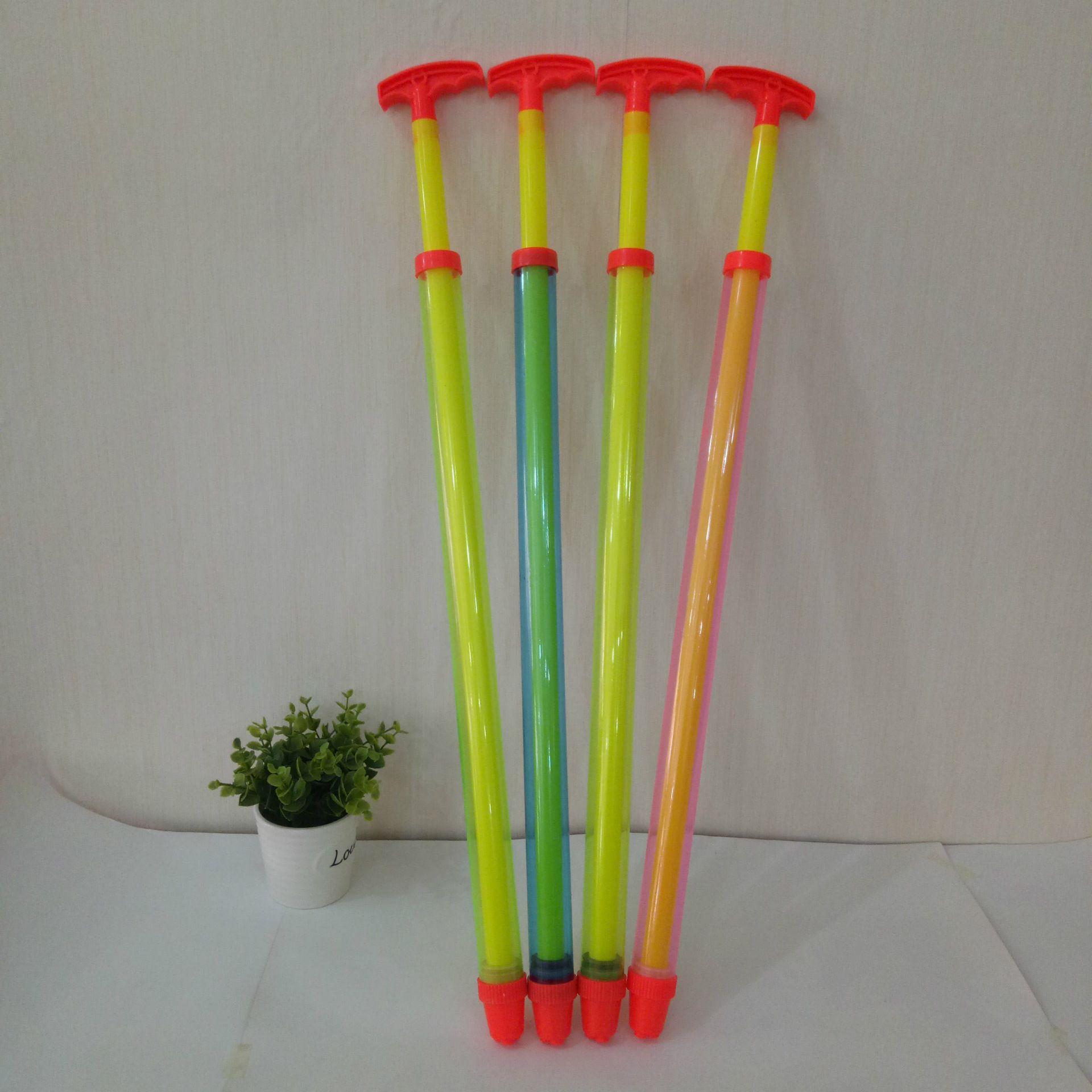 Children's splashing toy, pulling type single tube drifting water gun, high pressure syringe barrel, long-distance porous water cannon
