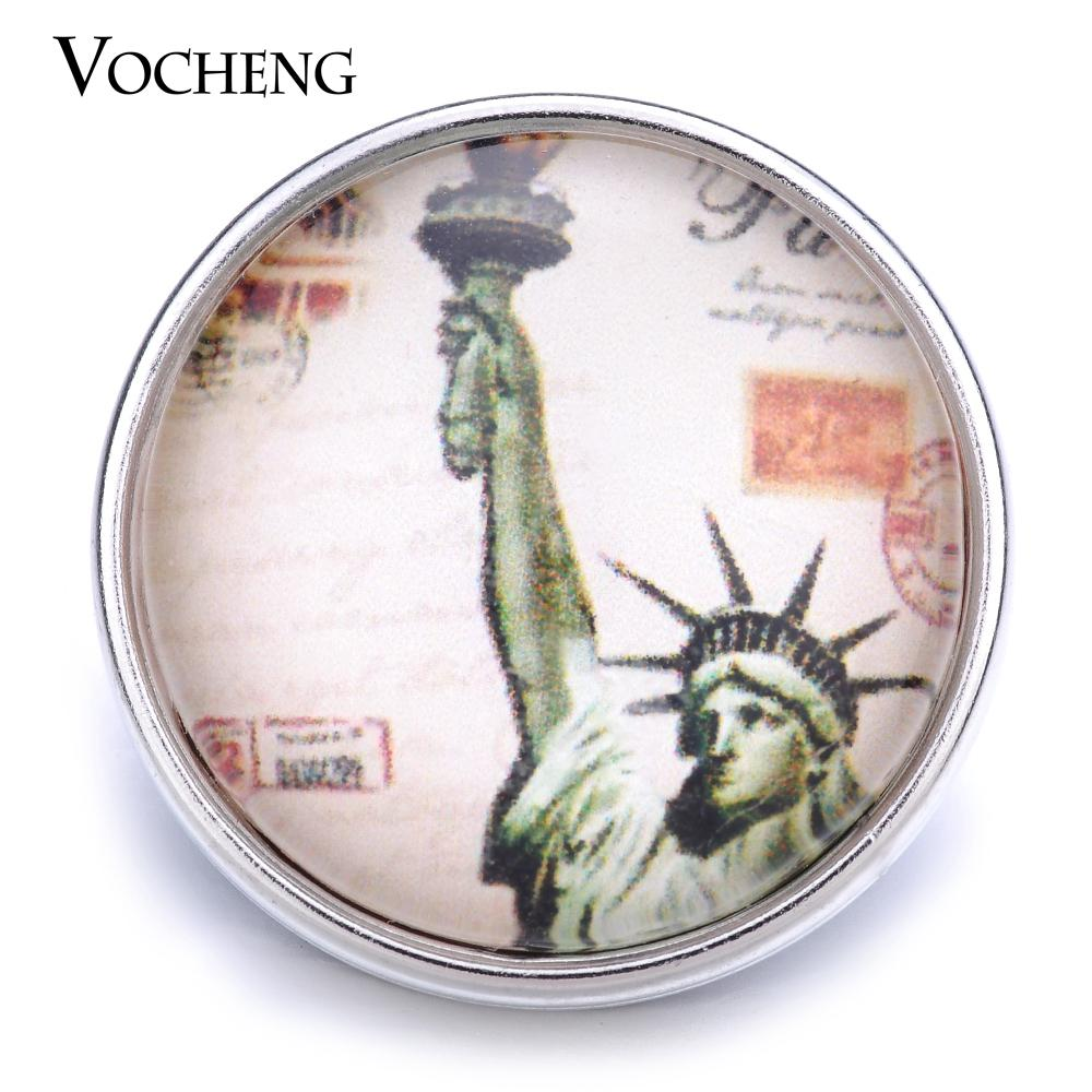 VOCHENG NOOSA En Gros 18mm Charme De Verre Interchangeable Snap Jewelry Vn-1233
