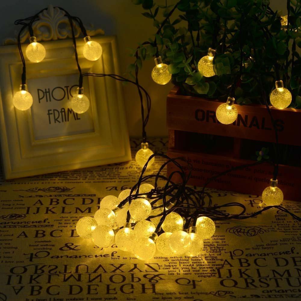 christmas outside lighting. Online Cheap Solar Powered Led Outdoor String Lights 6m 30leds Crystal Ball Globe Fairy Strip For Outside Garden Patio Party Christmas By Cnlighting Lighting