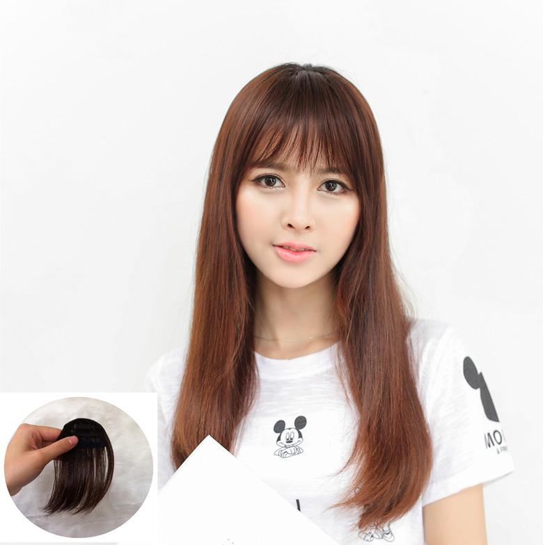 New Fashion Natural Thin Light Full Bang Clip In On Real Remy Hair