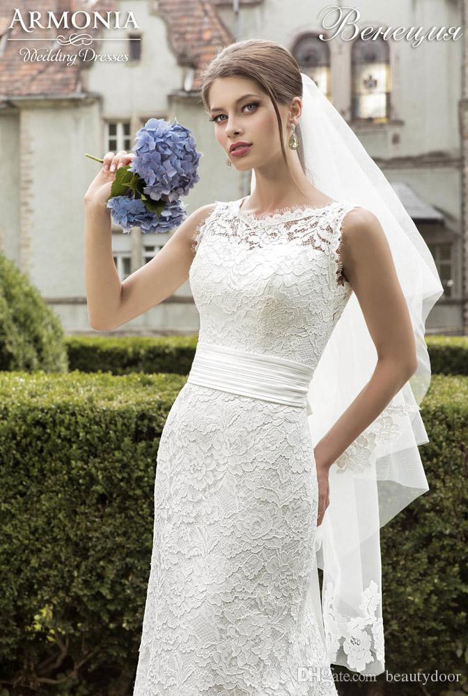 Großhandel Vintage Chantilly Spitze Brautkleider Meerjungfrau Stil ...