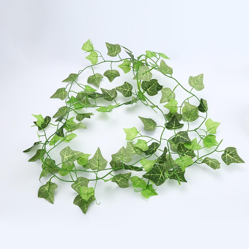 Green Artificial Plastic Ivy Leaf Garland Plants Flower Vine Foliage Flowers Home Decor