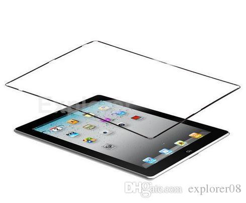 شاشة LCD تعمل باللمس منتصف مدي الإطار الأوسط بمادة لاصقة أسود أبيض لباد 2 3 4 البلاستيك الإطار الحافة 20PCS لوط