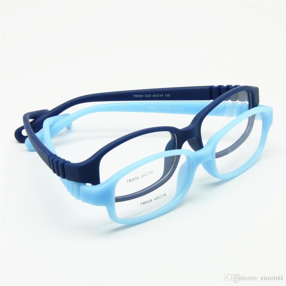 I bambini vetri ottici Telaio con cinghia Dimensioni 49, nessuna vite flessibili Ragazze Ragazzi Occhiali da vista, un pezzo Occhiali per bambini con cavo