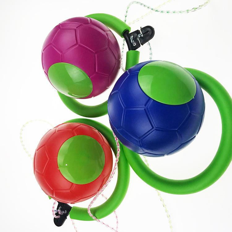 Bouncing ball bouncing toy left foot children adults jumping ball factory direct selling used rotary explosion models