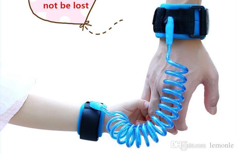 1.5 m Ajustável Crianças Segurança Anti-lost Pulseira de Ligação de Pulso Crianças Braclet Pulseira Bebê Criança Arnês Strap Strap