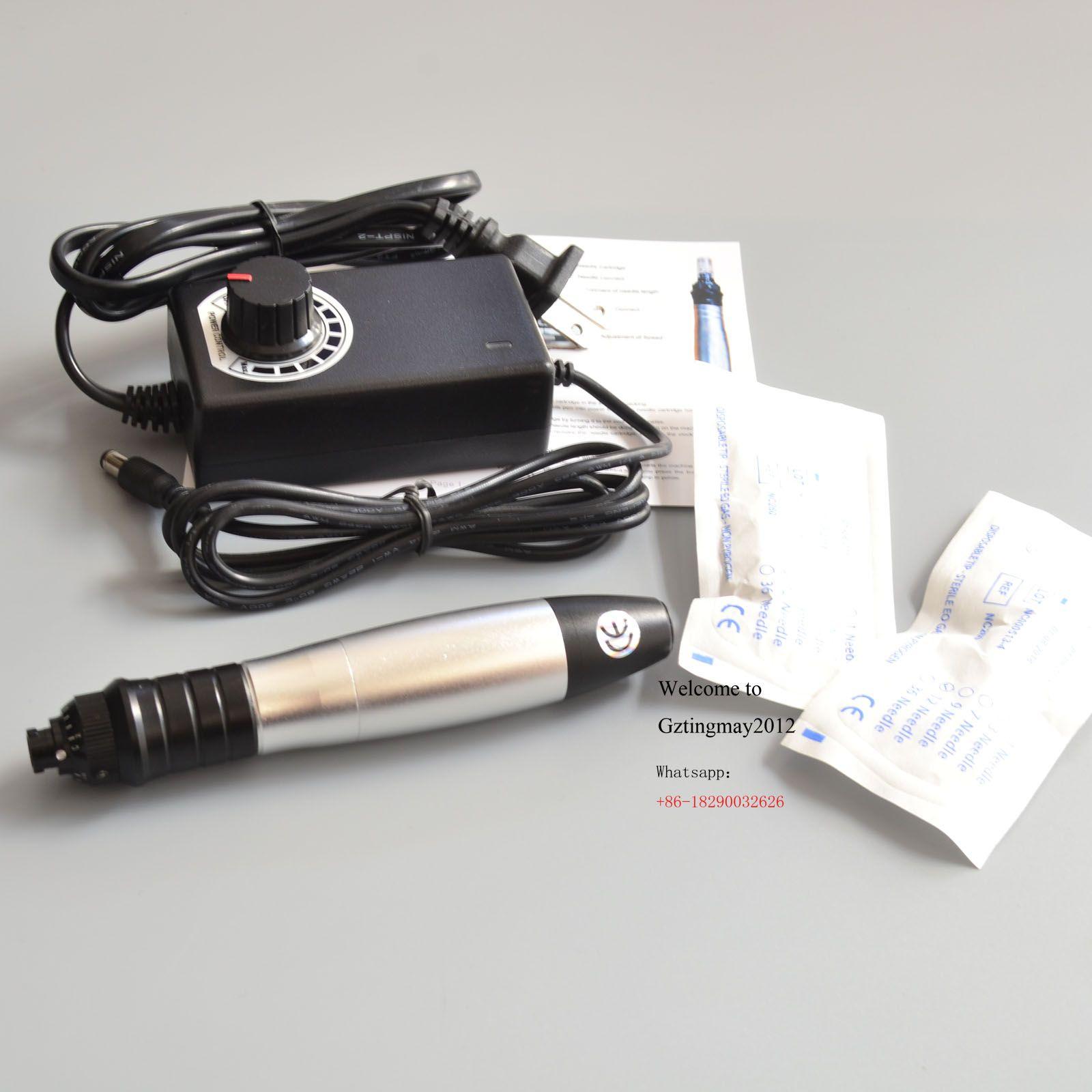 MYM Electrical Derma Pen elétrica Derma Stamp rolo Micro Agulha com 12pcs agulha do cartucho