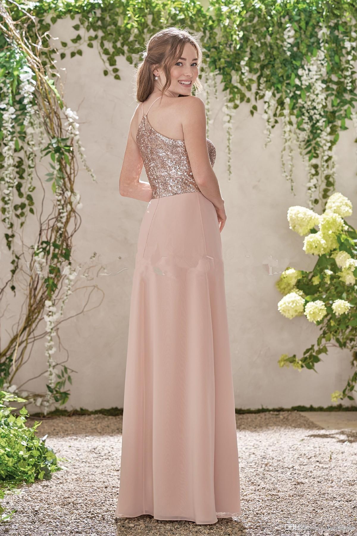 Compre 2017 Vestidos De Dama De Honor Con Correa De Espagueti ...