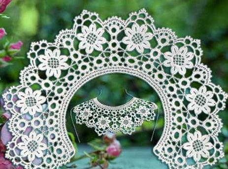 A Wide Variety Of Flower Diy Handmade Knit Crochet Lace Collar