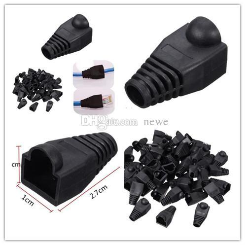 New Arrive 1000pcs Black Boot Cap Plug Head For RJ45 Cat5/6 Cable Connector Modular Network