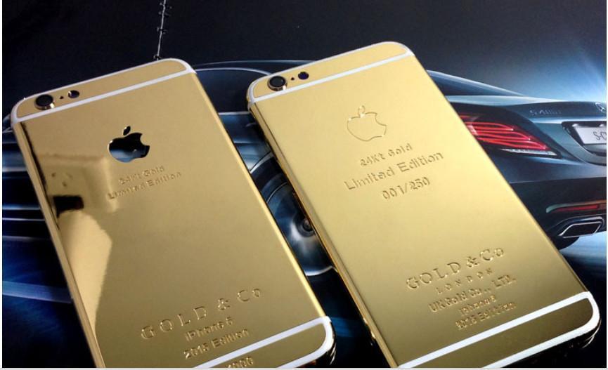vera pelle placcatura in oro 24 carati cover cover per iPhone 6 4.7 5.5