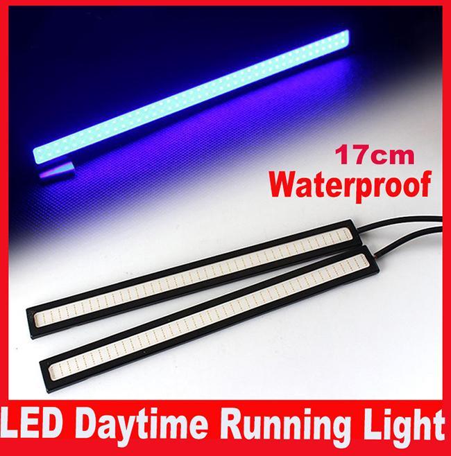 2 Pcs 17 CM LED COB DRL Daytime Running Luz À Prova D 'Água Externo Led Car Styling Fonte de Luz Do Carro de Estacionamento Nevoeiro Bar lâmpada