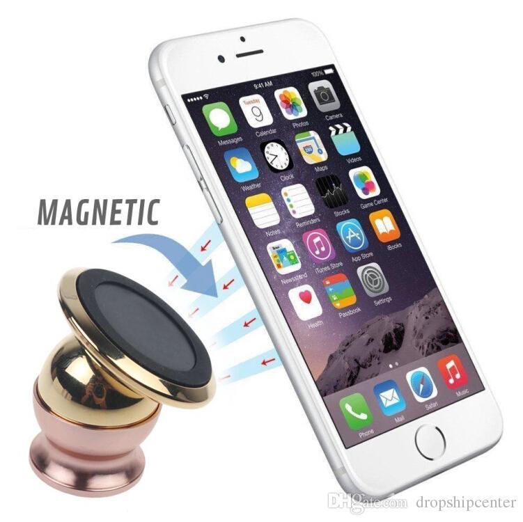 Magnetische Handy Navigation Halter 24 Karat Gold Metall Plating 360 Grad-umdrehung Multifunktionale Für Auto Auto Schlafzimmer Duschraum Büro