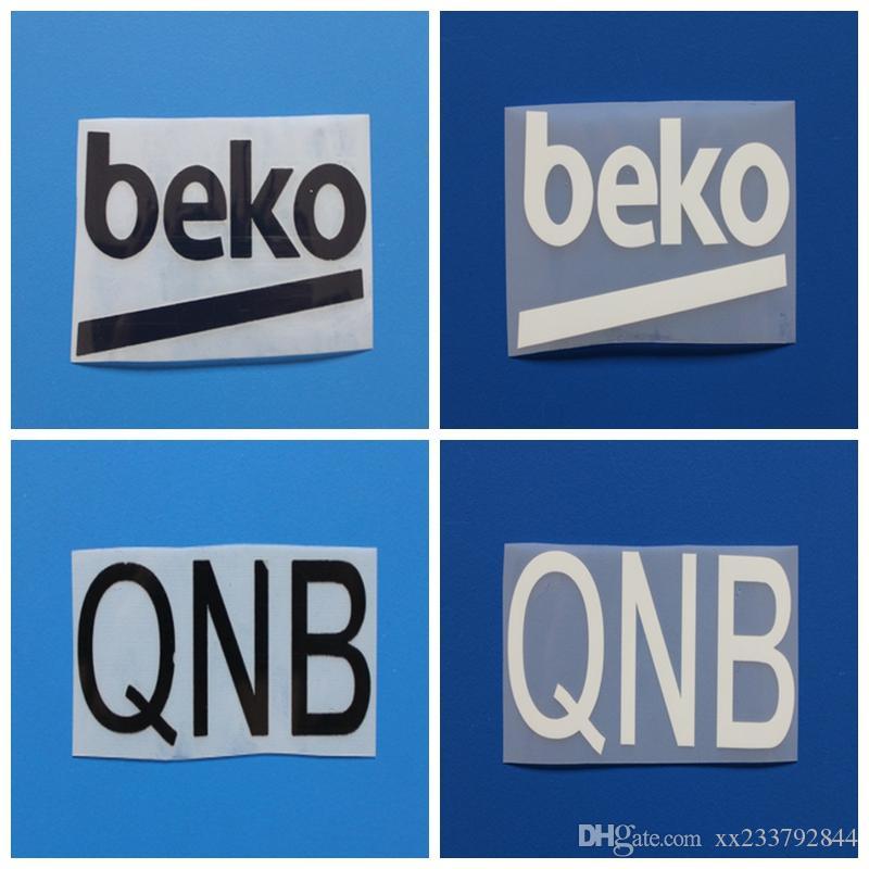 Новые Доры / белый QNB BEKO футбол рука печати значки, футбол горячего тиснения патч Бейджи