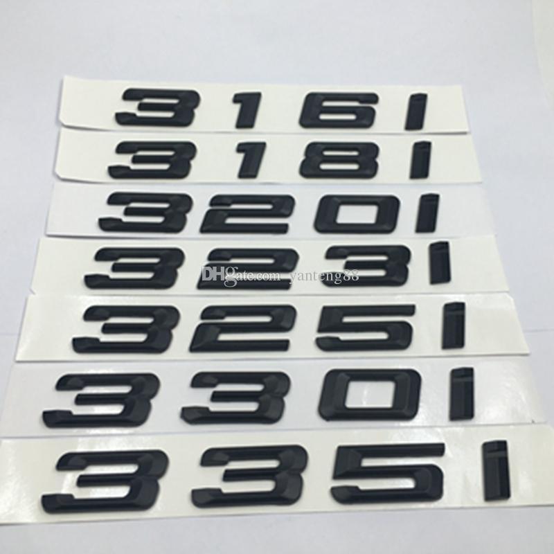 330i Lettering for BMW Nameplate Decal Emblem Logo