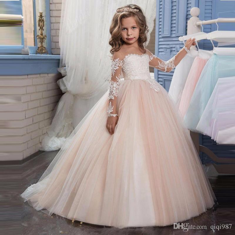 Compre Los Cuadros Verdaderos De La Vendimia Vestido Del Desfile De Princesa Girls 2018 Niza Cumpleaños De Los Niños Vestidos Vestidos De Niña Con