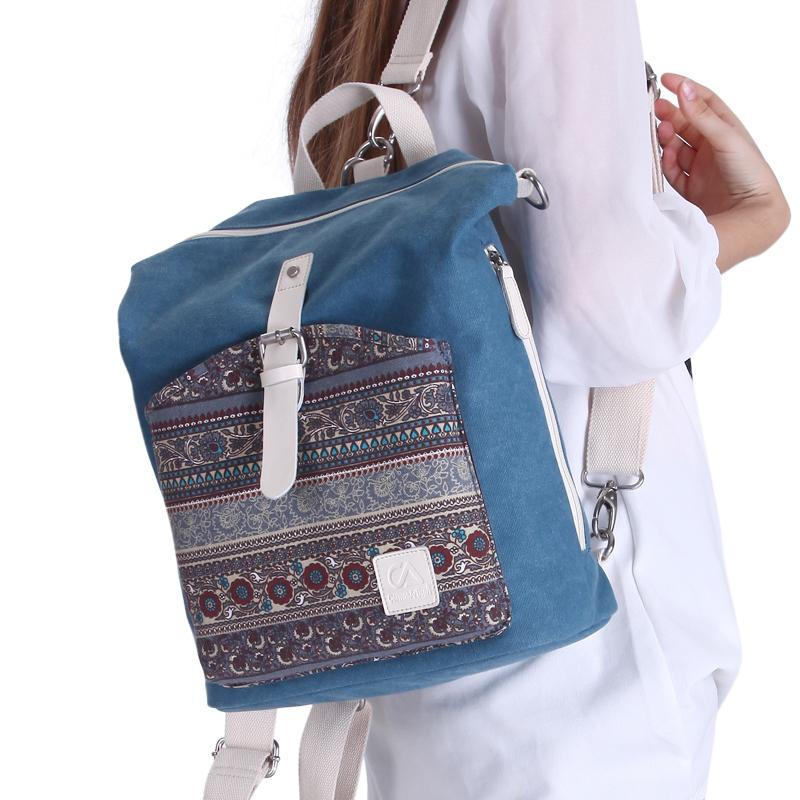 7e92cac46b7d Canvasartisan top quality women canvas backpack bookbag female dual purpose  shoulder bag daily travel backpacks crossbody