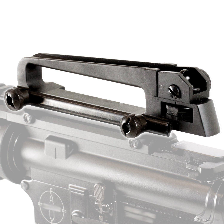 Direito Militar frete grátis Tactical Enforcement metal M4 M16 AR15 destacável Carry Handle Com Mecânica traseira vista
