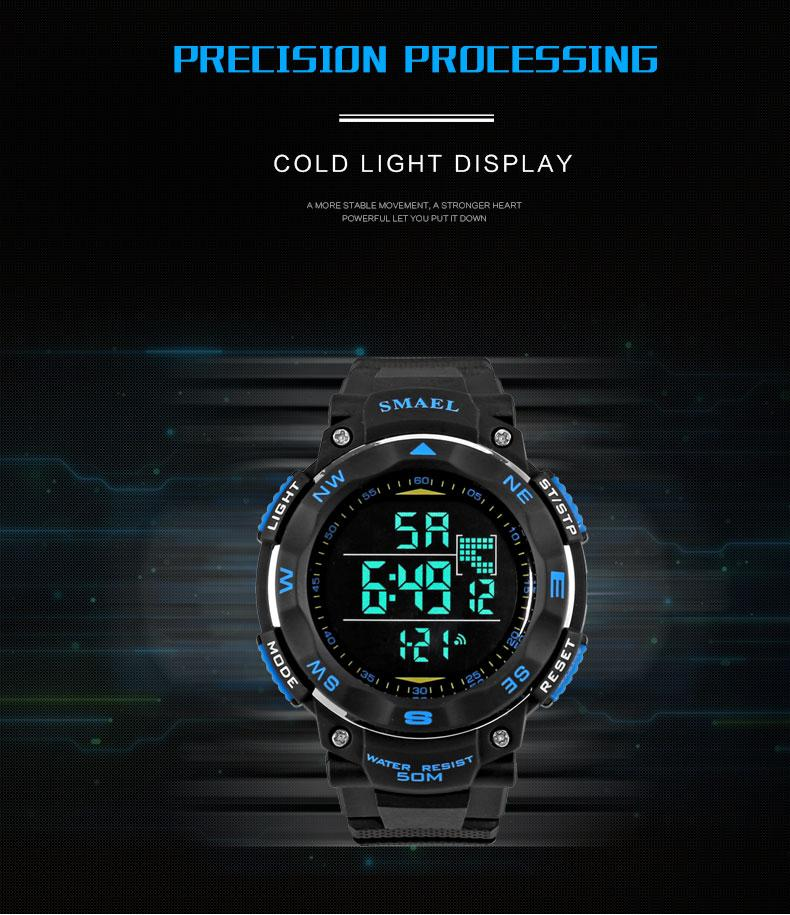 4.digital watch light