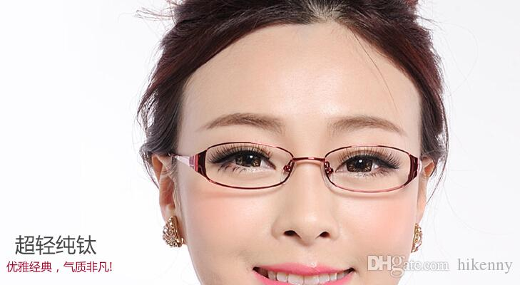 short description ultra light titanium full rim frame frame myopia female eyewear frame glasses frame temperament elegant eyeglass frame