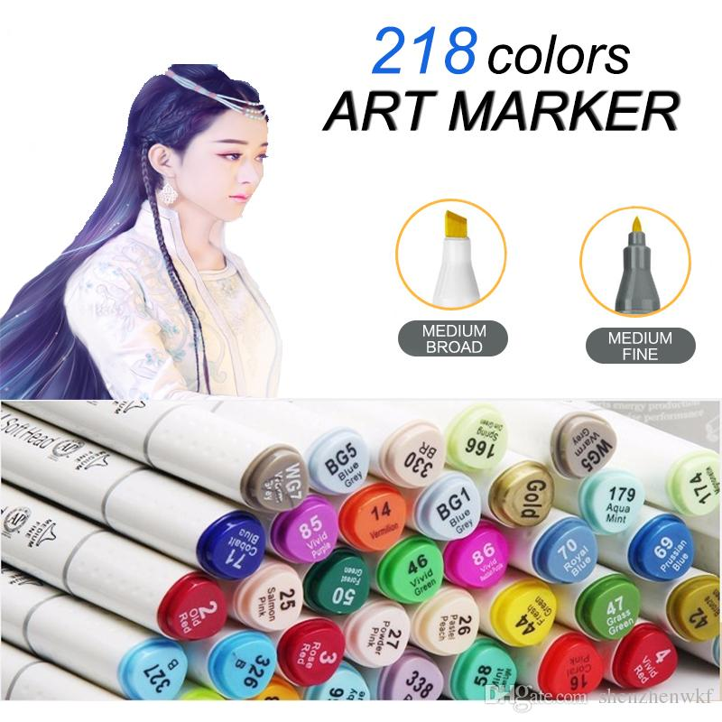 Art Supplies 60 Colors Dual Head Sketch copic Markers Set For School Student Drawing Sketch Marker Pen Posters Design