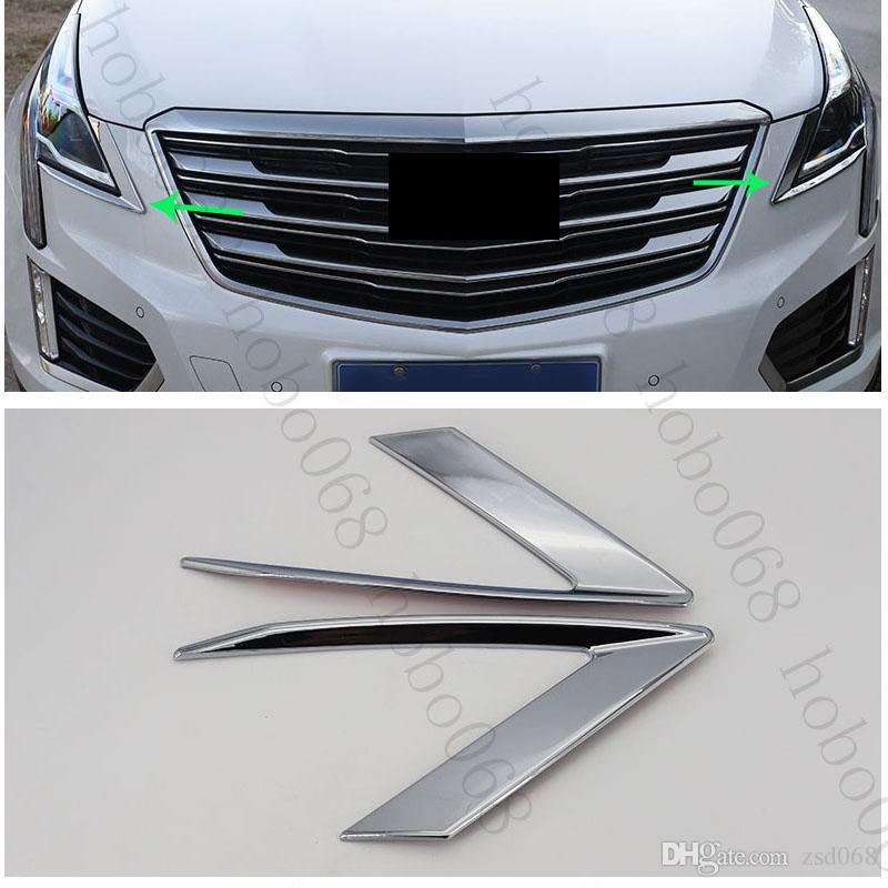 1Set Автомобиль ABS передний Брови фары крышка уравновешивания декоративные Рамы для Cadillac XT5 2016 поделки