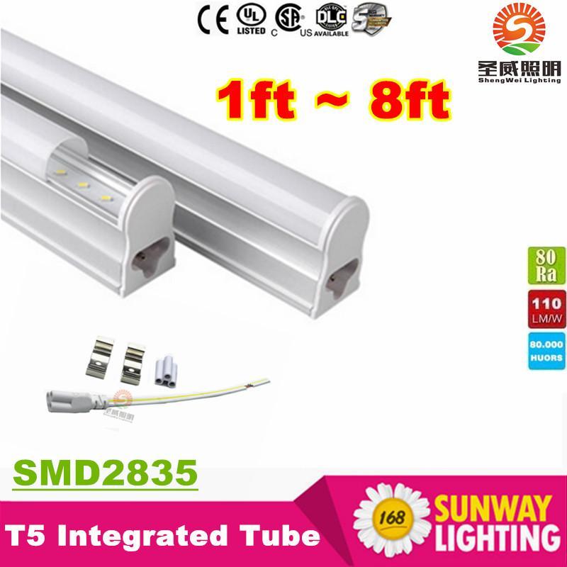 T5 5ft Led Light Tubes 34W 3500 Lumens Integrated 1.5m 150mm Led Fluorescent Tube Light AC 110-277V + CE ROHS