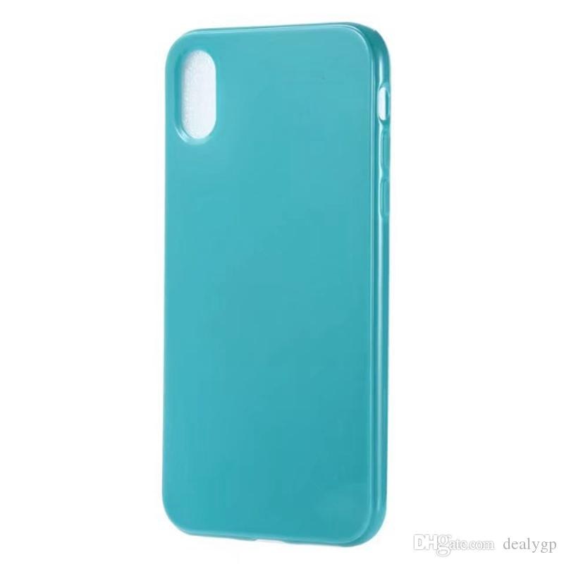 Silicone Case for iphone X for Samsung Galaxy Note 8 Solid Color Soft TPU Rubber Silicone Protective Back Case