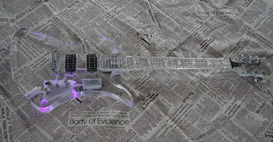 Crystal E-Gitarre Acryl-Kristall-Paket für Porto