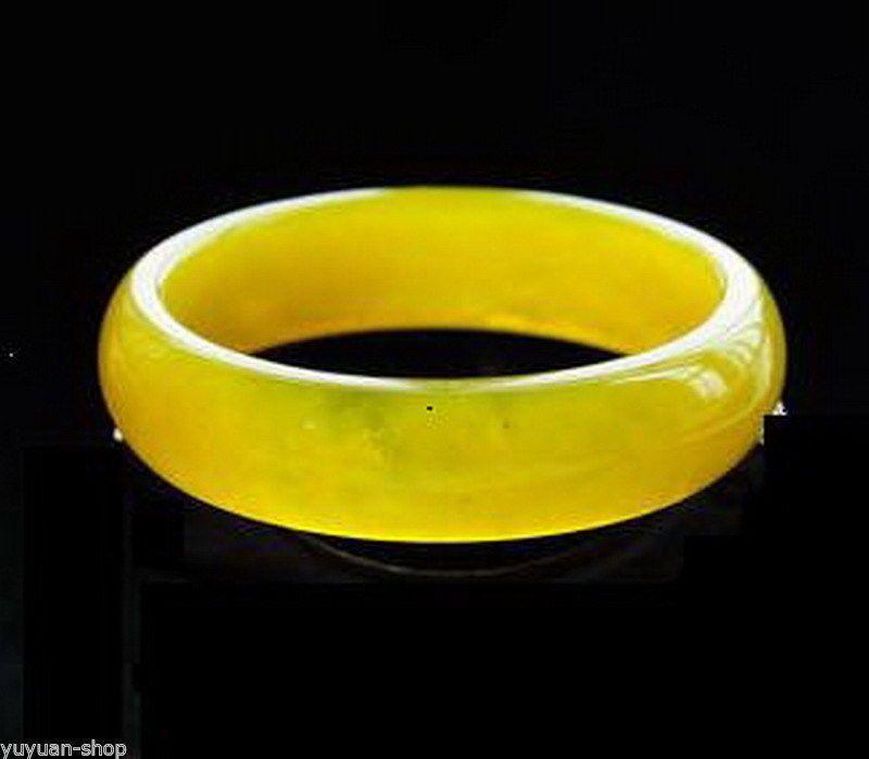 Commercio all'ingrosso GENUINO asiatico naturale giallo braccialetto braccialetto di giada 56mm-64mm