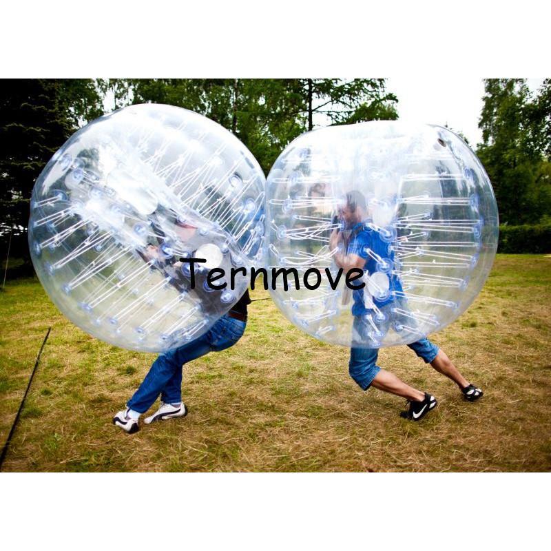 Pára-choque Bola 0.8mm PVC 1.5 m Air inflável terno de corpo inteiro, trajes de corpo inteiro, bola de bolha de pára-choque inflável, Bola de futebol de Ar