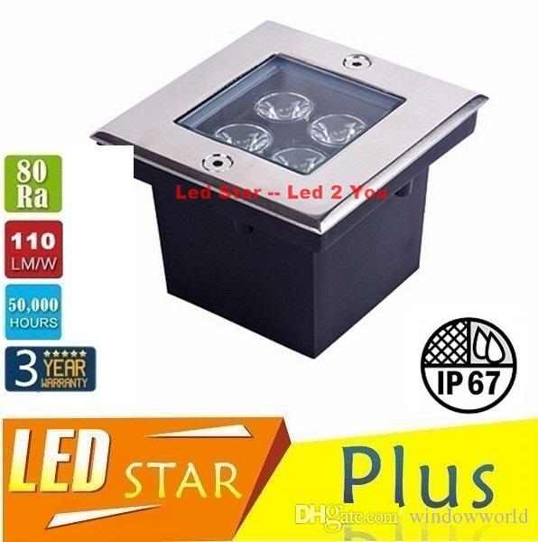 Square Underground Led Lights High Bright 12W Deck Lighting Led Garden Light Floor Light IP67 Waterproof AC 85-265V