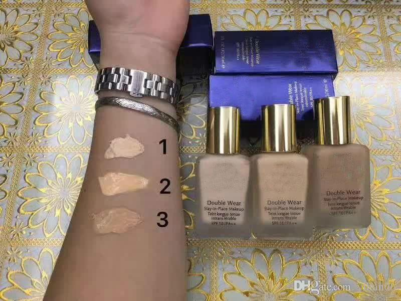 Hot sales ! New Makeup Double Wear Foundation 30ml 3 colors to choose good quality with best price fast free shipping