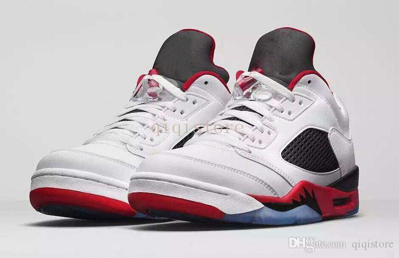buy online 4b95d cffba Retro 5 Low Fire Red Black Chicago 23 Basketball Shoes V Alternate 90 Black  Gym Red Men'S Sports Shoes 8 13 Sport Shoes Mens Sneakers From Qiqistore,  ...